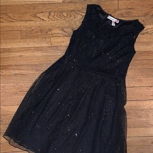 Black lace and sparkly dress